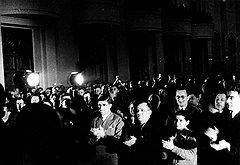 «И мне хочется поблагодарить товарища Сталина и Центральный комитет партии за счастливую жизнь, какой я сейчас живу. Мы сейчас самые счастливые люди в нашей стране! Это вы, товарищ Сталин, дали нам такую жизнь! (Продолжительные аплодисменты.) (на фото)»