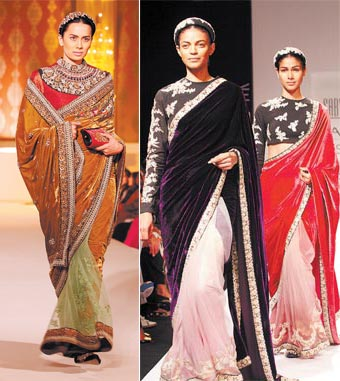 Traditional saris from the winter collection by Sabyasachi Mukherjee