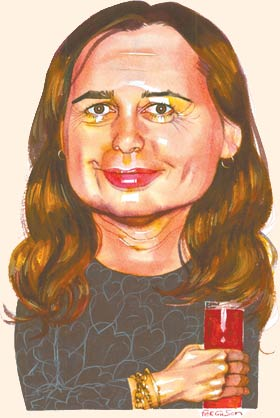 Ferguson portrait of Alexandra Shulman in the FT