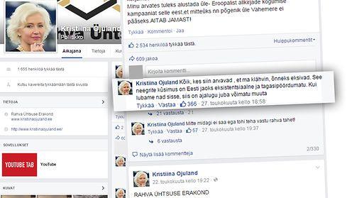 Kirstiina Ojuland facebook