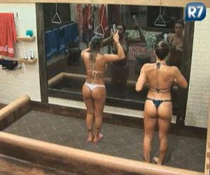 Joana e Dani no banho