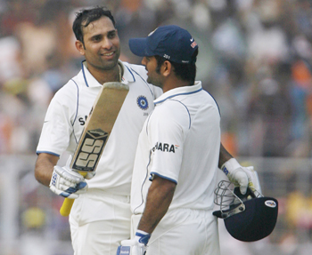 Dhoni and Laxman - the partnership that put India on top