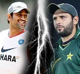 Captains Dhoni and Afridi