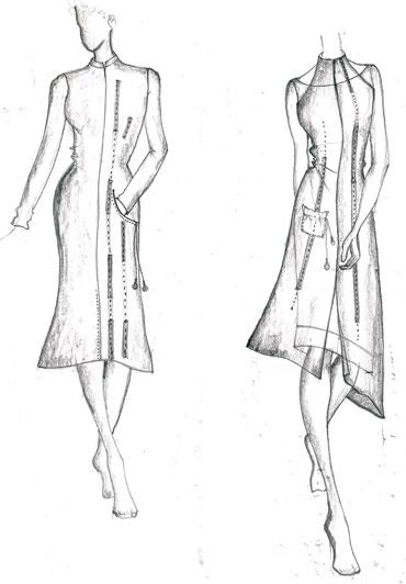 Vaishali's design sketches