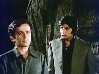 Shashi Kapoor and Amitabh Bachchan in Deewar