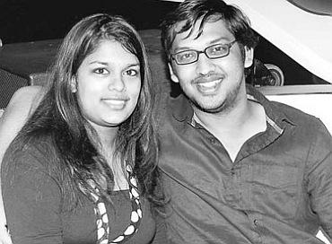 Srija with Sirish in happier times