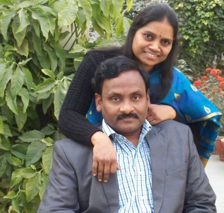 Vasantha Kumari with her husband