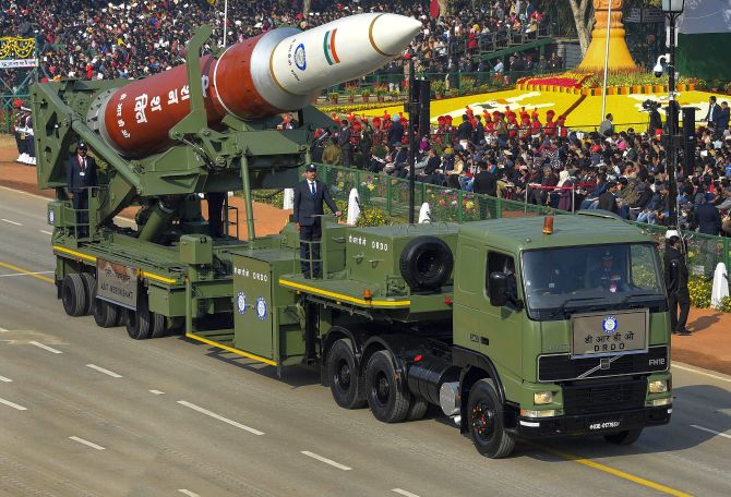 India shows off its military might at R-Day parade - Rediff.com India News