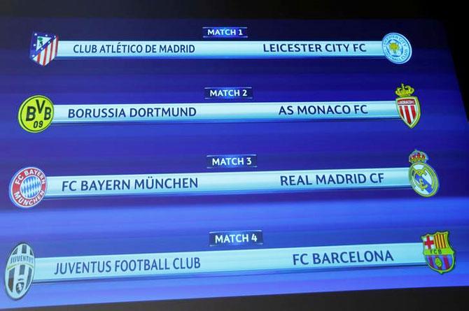 Lip-smacking Champions League quarters: Barca draw Juve ...