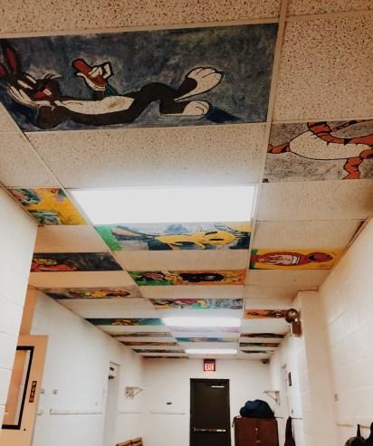 ceiling tile art mikylarenee vsco