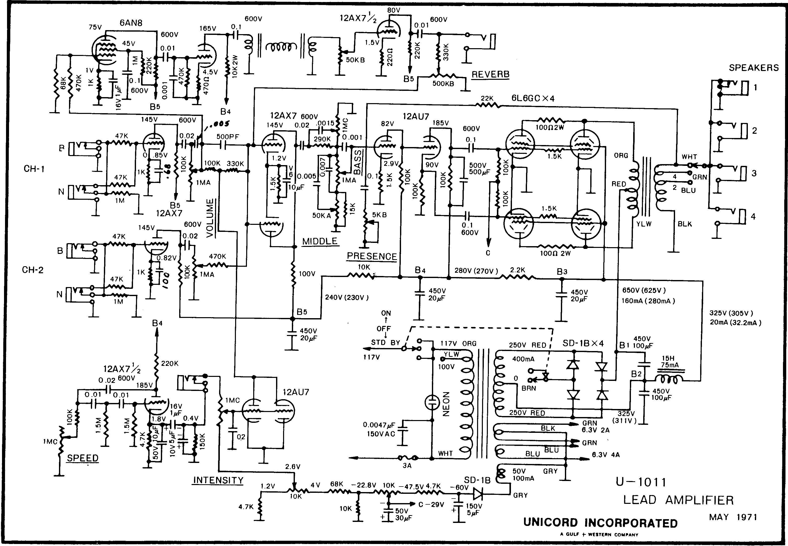 pignose amplifier schematic