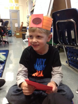 Alec played Geobands to learn further about shapes. What fun!
