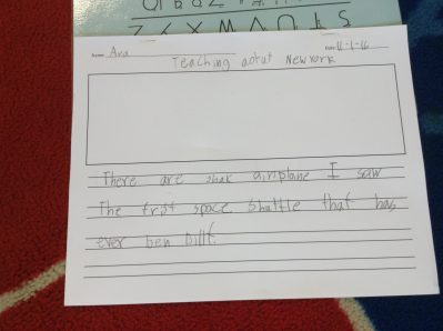 Amazing writing about our virtual field trips!