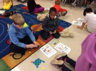 We visited our fourth grade learning buddies to celebrate Halloween by playing BINGO!