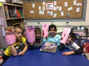 We made puppets from Norbert's Big Dream!