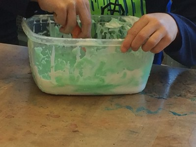 Check out these first graders making slime!