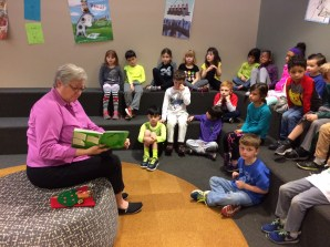 Mrs. Meihaus read to us on World Read Aloud Day.