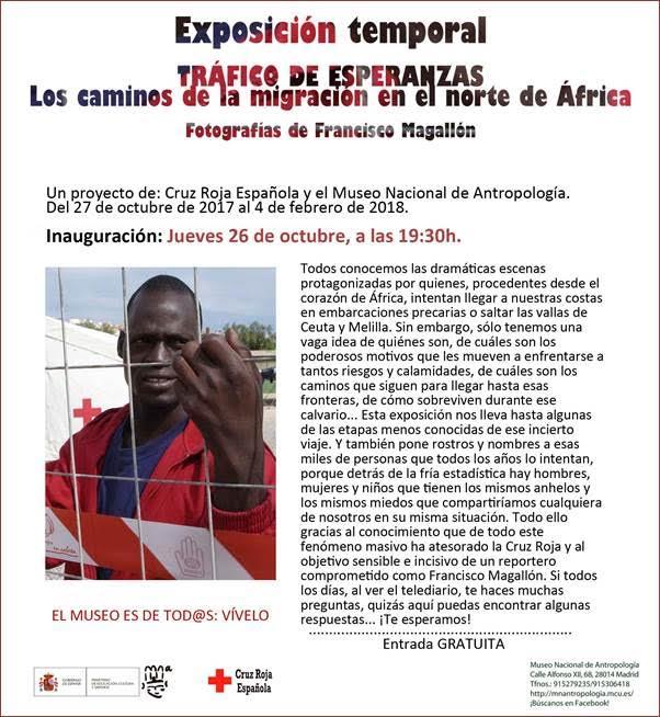 """Exposición Temporal """"Tráfico de esperanzas: Los caminos de la migración en el norte de África"""""""