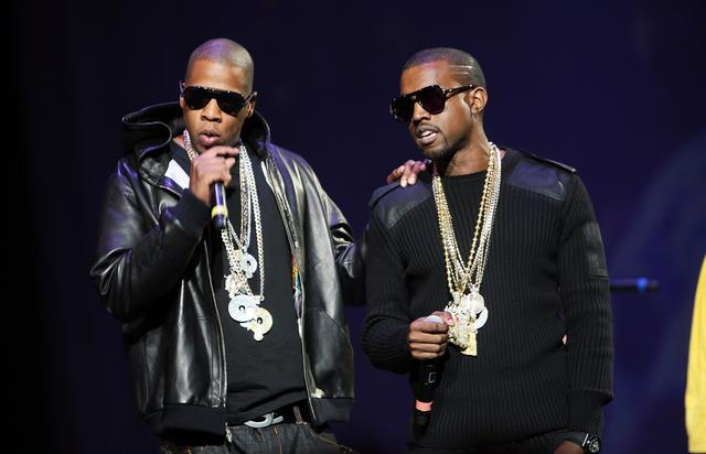 Kanye West and Jay Z in 2007