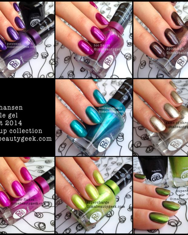 Sally Hansen Miracle Gel Swatches Fired Up Collection Nails