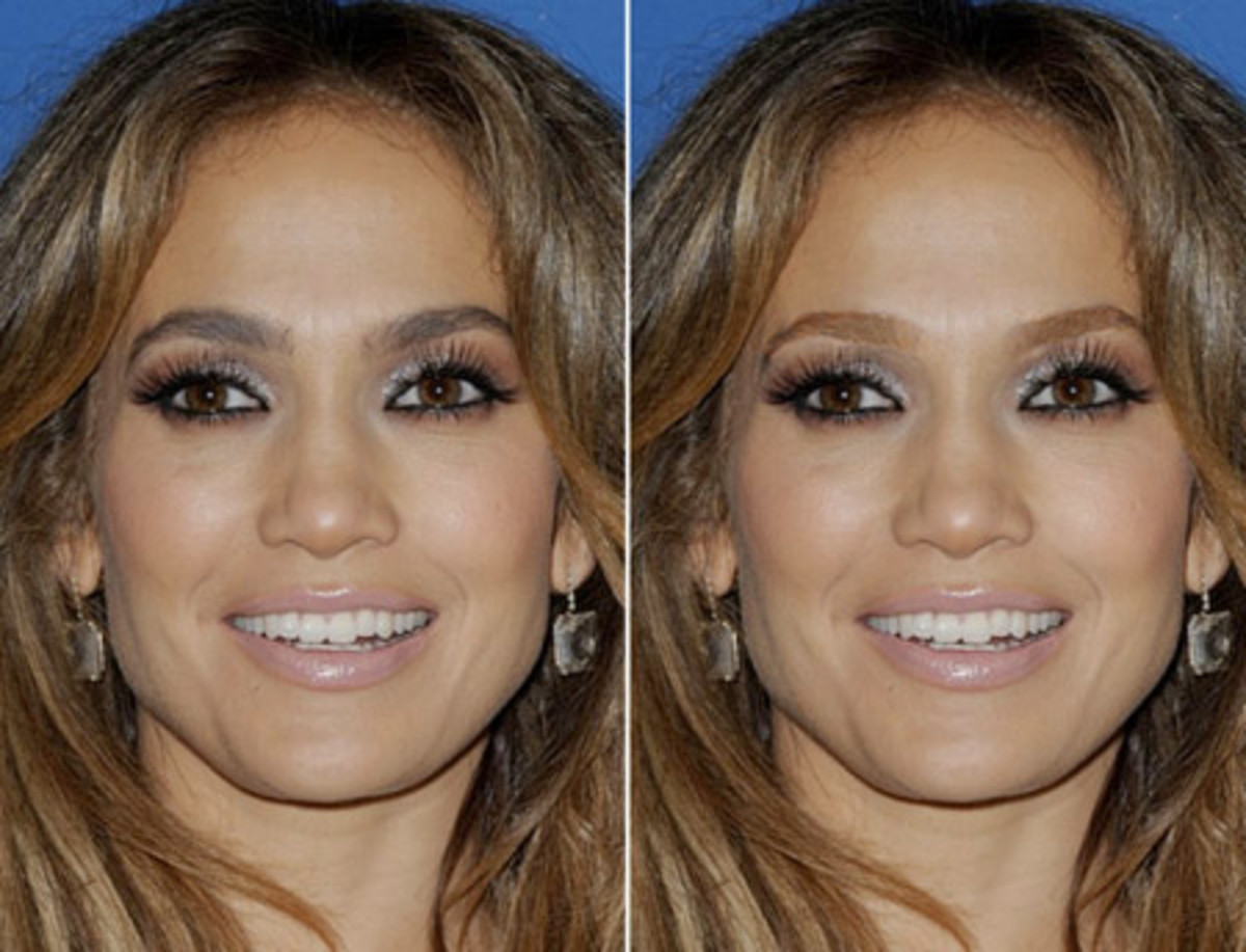 BROW MAKEOVER YOURS ARE TOO DARK JENNIFER LOPEZ
