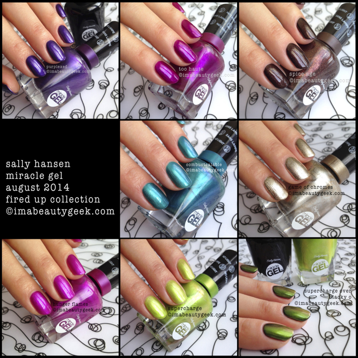 Sally Hansen Miracle Gel Swatches Fired Up Collection