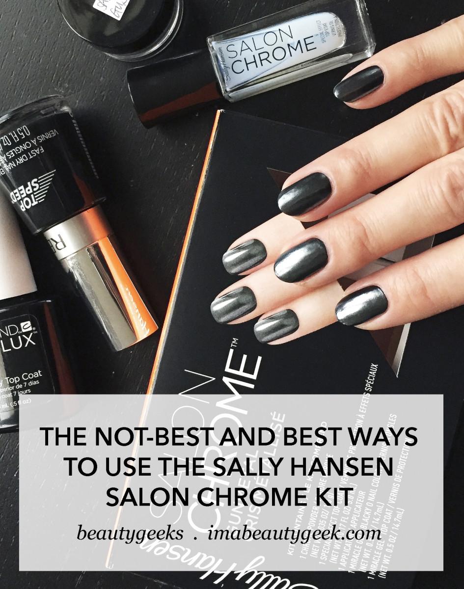 Sally Hansen Salon Chrome Kit The Not Best And Ways To Diy