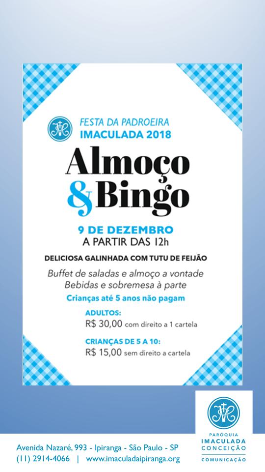 almoço com bingo