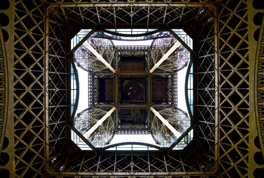 From beneath the Eiffel Tower 2016