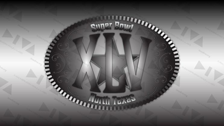 alternate 2011 Super Bowl 45 logo design North Texas: belt buckle