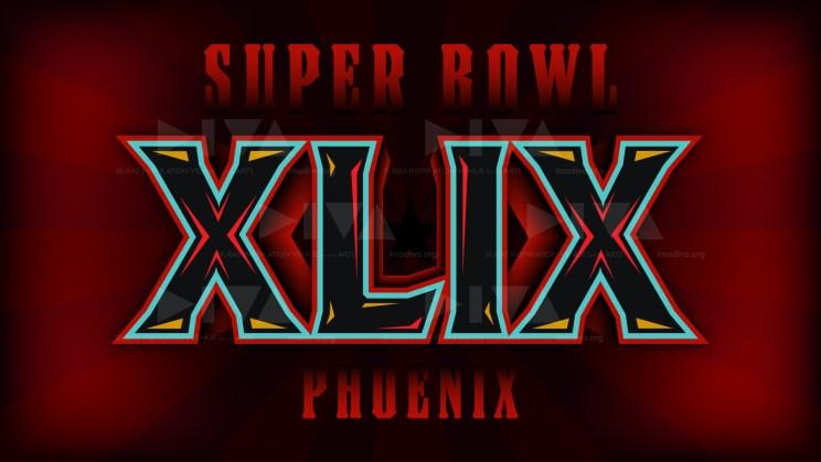 alternate 2015 Super Bowl 49 Arizona logo design: radiant red Arizona state flag variant