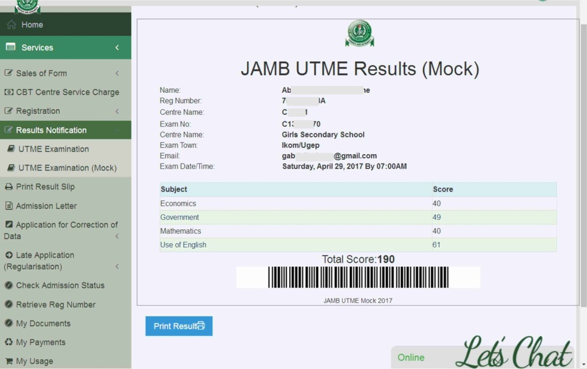 HOW TO CHECK YOUR JAMB MOCK RESULT SLIP 2017