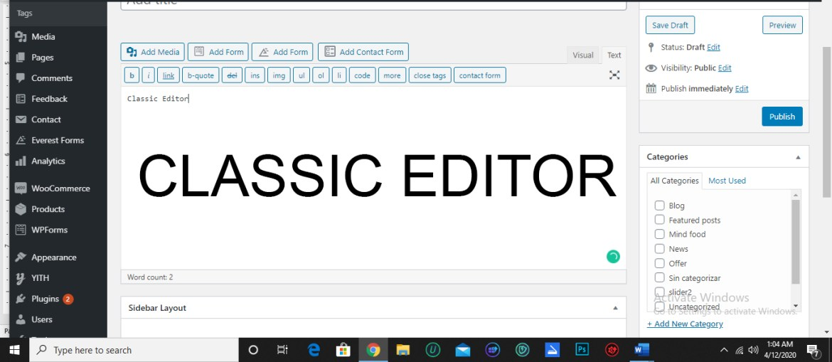 Getting the best with Classic Editor – WordPress