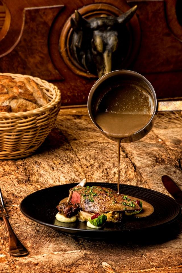 La Palombe du Café de Peney (Menu de chasse)