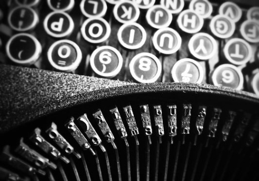 Vieja máquina de escribir.