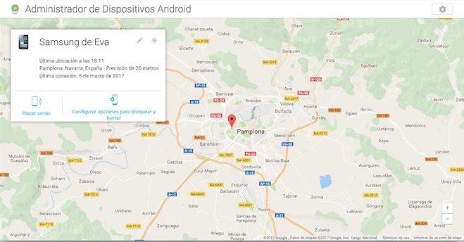 Administrador dispositivos Android