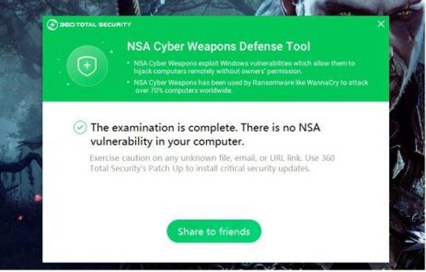 Captura de 360 NSA Cyber Weapons Defense Tool