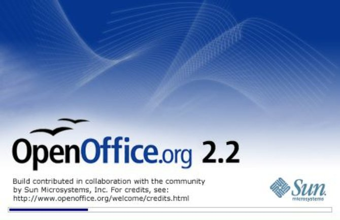 Pantalla de carga de OpenOffice 2