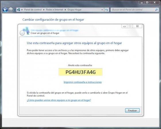 Grupo Hogar en Windows 7 5