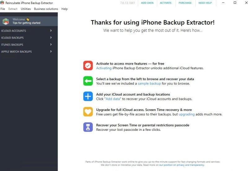 iPhone Backup Extractor 7.7.5.2296 - Скачать на ПК бесплатно