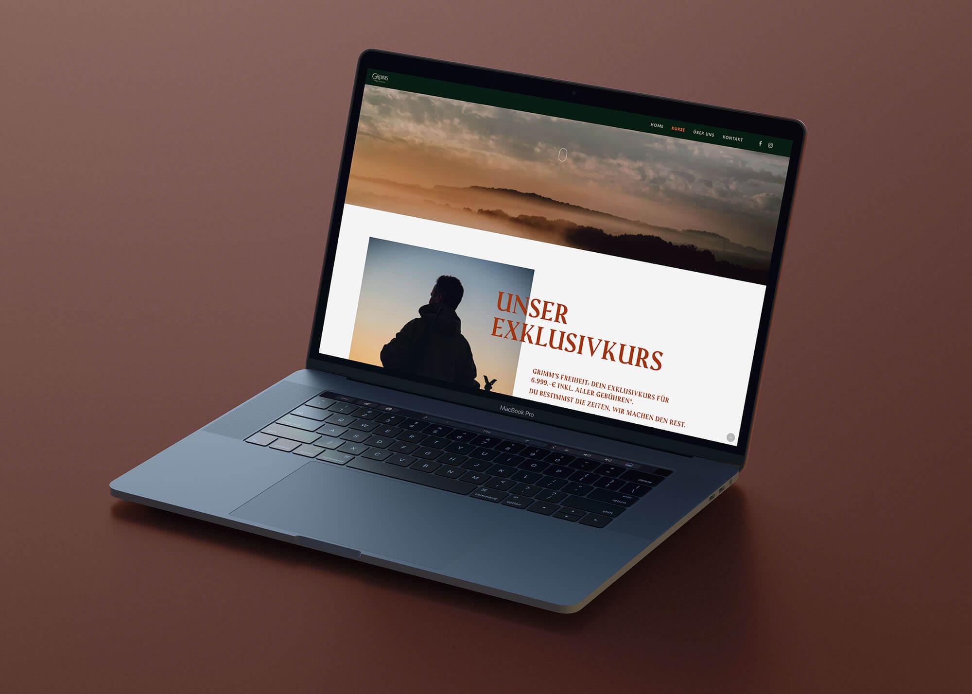 Grimm's Jagdschule Website
