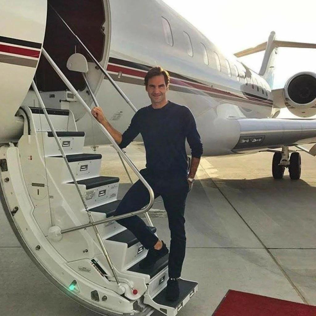 EL Jet de Roger Federer