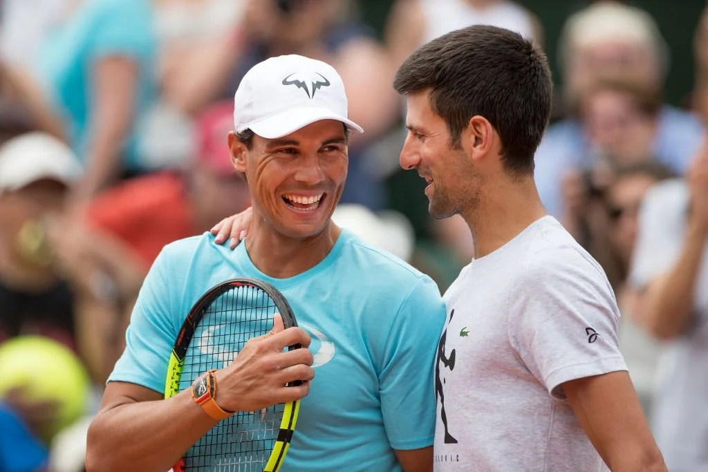 Novak Djokovic and Rafael Nadal