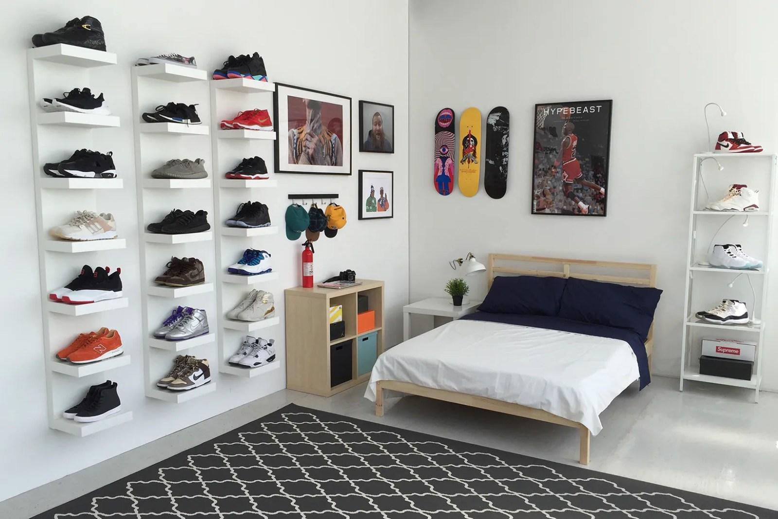 ideal sneakerhead bedroom