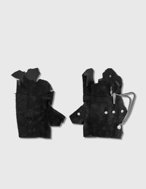 C2H4 Los Angeles C2H4 x Mastermind Japan Distressed Rivet Chain Gloves