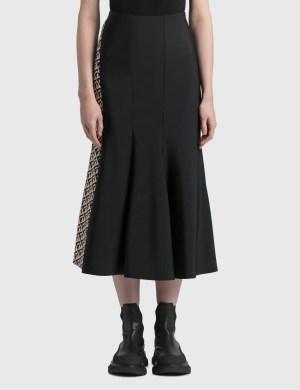 Marine Serre Bodycon Cocoon Flared Skirt