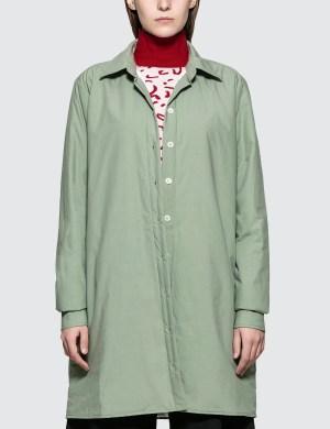 Aalto Lightly Padded Oversized Shirt With Slits