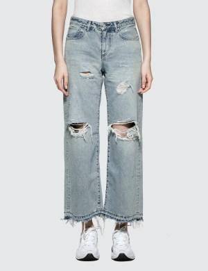 John Elliott Lydia Wide Leg Jeans