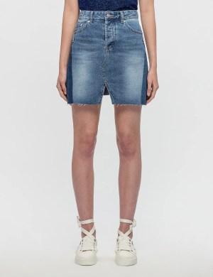 SJYP Cut Off Denim Skirt