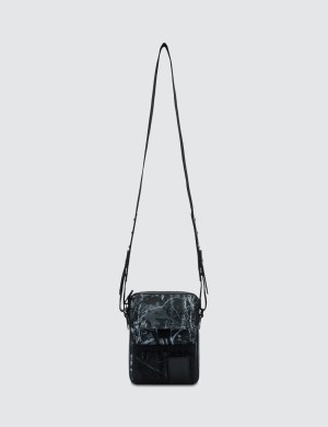 Lanvin Travel Pouch In Forest Printed Canvas
